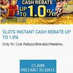 Gain as much as 1.0% Cash Rebate on W88 Slot Game Promotions