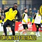 Usain Bolt Trains with Borussia Dortmund for Soccer Aid Match on June