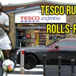 United's Romelu Lukaku Casually Drops by Tesco in Rolls-Royce Wraith