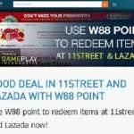 Promotion Update: Get Great Deals in Lazada and 11Street with your W88 Winnings