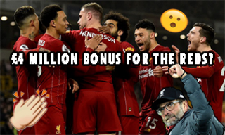 Possible salary bump if Liverpool's able to win Premier League title by season end