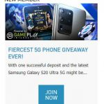 W88 Promotional Update: Win Samsung Galaxy S20 Ultra 5G