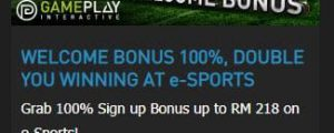W88 Promotions: 100% Welcome Bonus up to 218 MYR at e-Sports