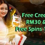 Latest Free Credit New Register 2021: RM 30 & 1K Free Spins